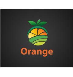 Farming fruit orange fruit logo design inspiration vector