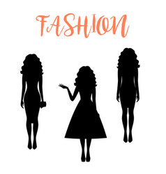 Fashion woman silhouette with long hairstyle vector