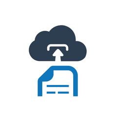 File upload storage icon vector