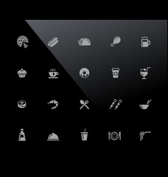food icons - set 2 of 2 32px series vector image