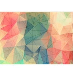 Geometric triangles on colorful background vector image
