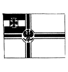 germany imperial navy flag 1910 vintage vector image
