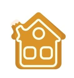 Gingerbread House icon Isolated on white vector