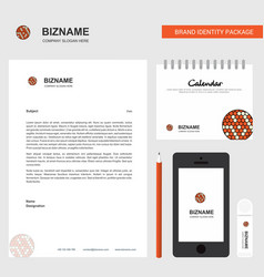 golfball business letterhead calendar 2019 and vector image