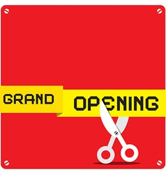 Grand Opening Red Square with Rounded Corners and vector