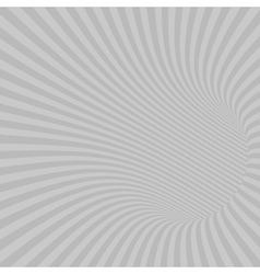Gray striped abstract tunnel vector