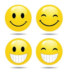 Happy face collection vector