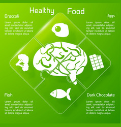 Healthy food concept vector