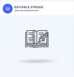 Highlight icon filled flat sign solid vector