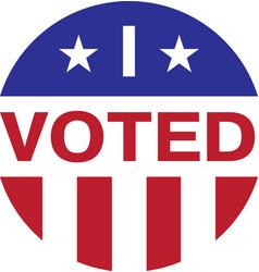 i voted isolated on white background vector image