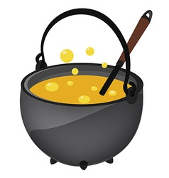 Kettle with poison vector image