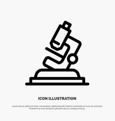 Lab microscope science zoom line icon vector