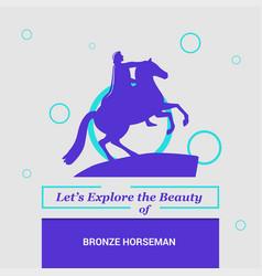 Lets explore beauty bronze horseman st vector