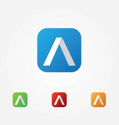 Letter a app logo vector