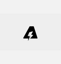 Letter a bolt logo design icon vector