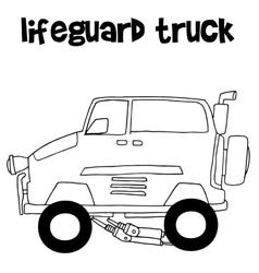 Lifeguard truck transportation art vector image