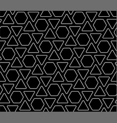 line art geometric seamless pattern vector image