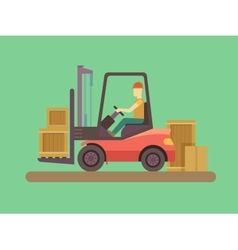 Loading and unloading machine vector