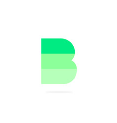 logo letter b green energy battery vector image