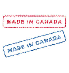 Made in canada textile stamps vector