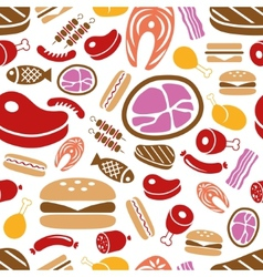 Meat seamless pattern vector