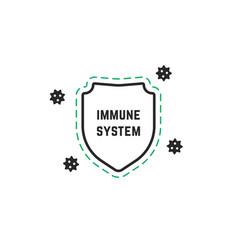 minimal immune system logo vector image