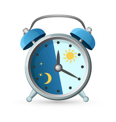 old clock with day and night parts on vector image