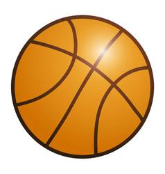 orange basketball ball eps 10 vector image
