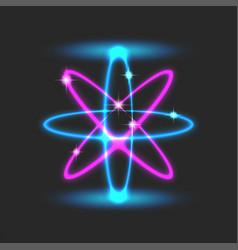Orbital futuristic scientific atomic structure vector