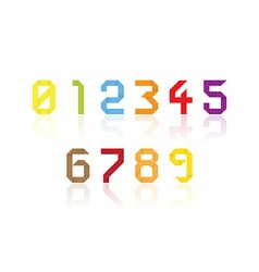 Origami numbers vector image