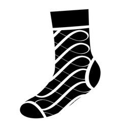 original sock icon simple style vector image