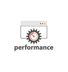 performance gauge web element design image vector image