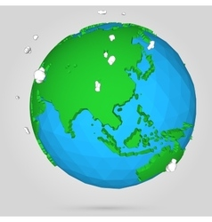 poly earth globe vector image