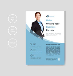 professional corporate business flyer template vector image