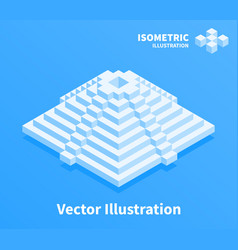 pyramid icon geometric composition vector image