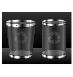 recycle bins with emblem vector image
