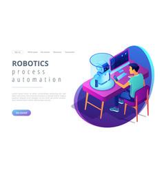 Robotics programming isometric3d landing page vector