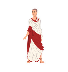 roman man in traditional clothes ancient rome vector image