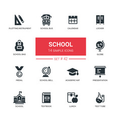 School concept - line design icons set vector