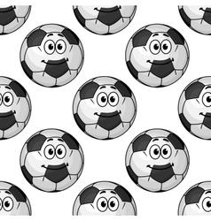 seamless pattern cartoon soccer balls or vector image