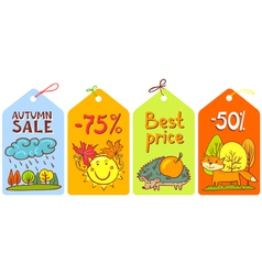 Season tags vector