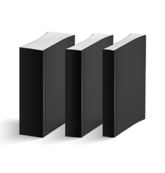 Set of blank vertical books cover template vector image