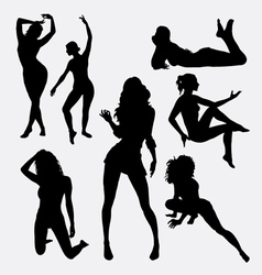 Sexy girl female silhouette vector image