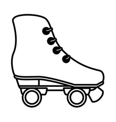 Skates wheels isolated icon vector