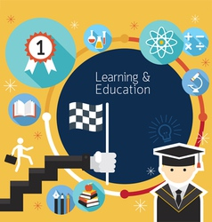 Student Success Learning Education Frame Icons vector