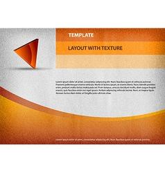 template orange curve vector image