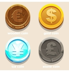 Texture coins of different currencies vector