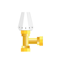 thermostatic radiator valve temperature knob icon vector image