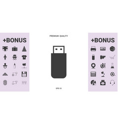 Usb flash memory drive icon - graphic elements for vector