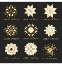 Very high quality set of vintage emblems vector image